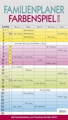Kalender »Familienplaner Farbenspiel 2018«