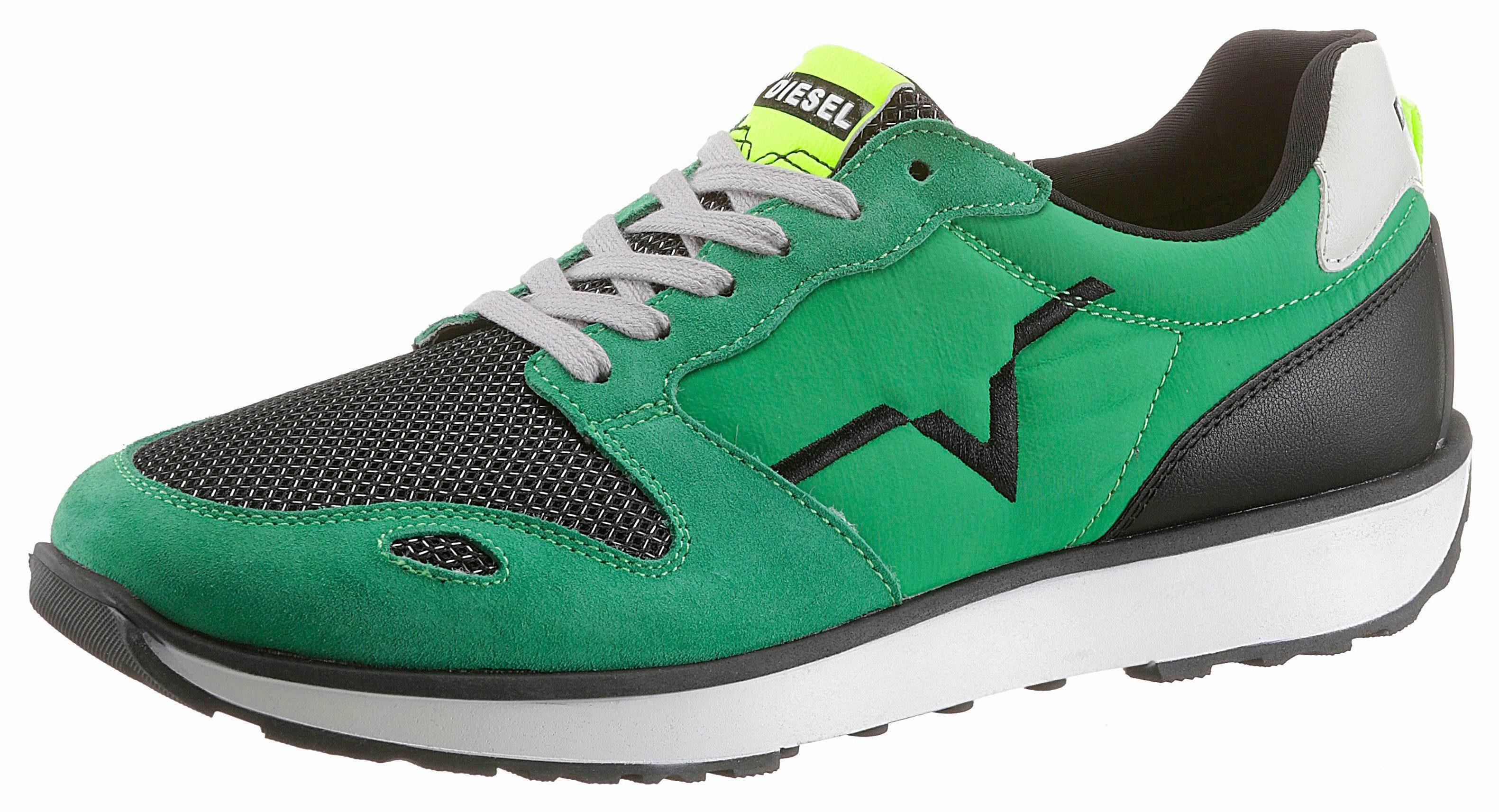 Diesel RV Sneaker, im stylischen Materialmix  grün