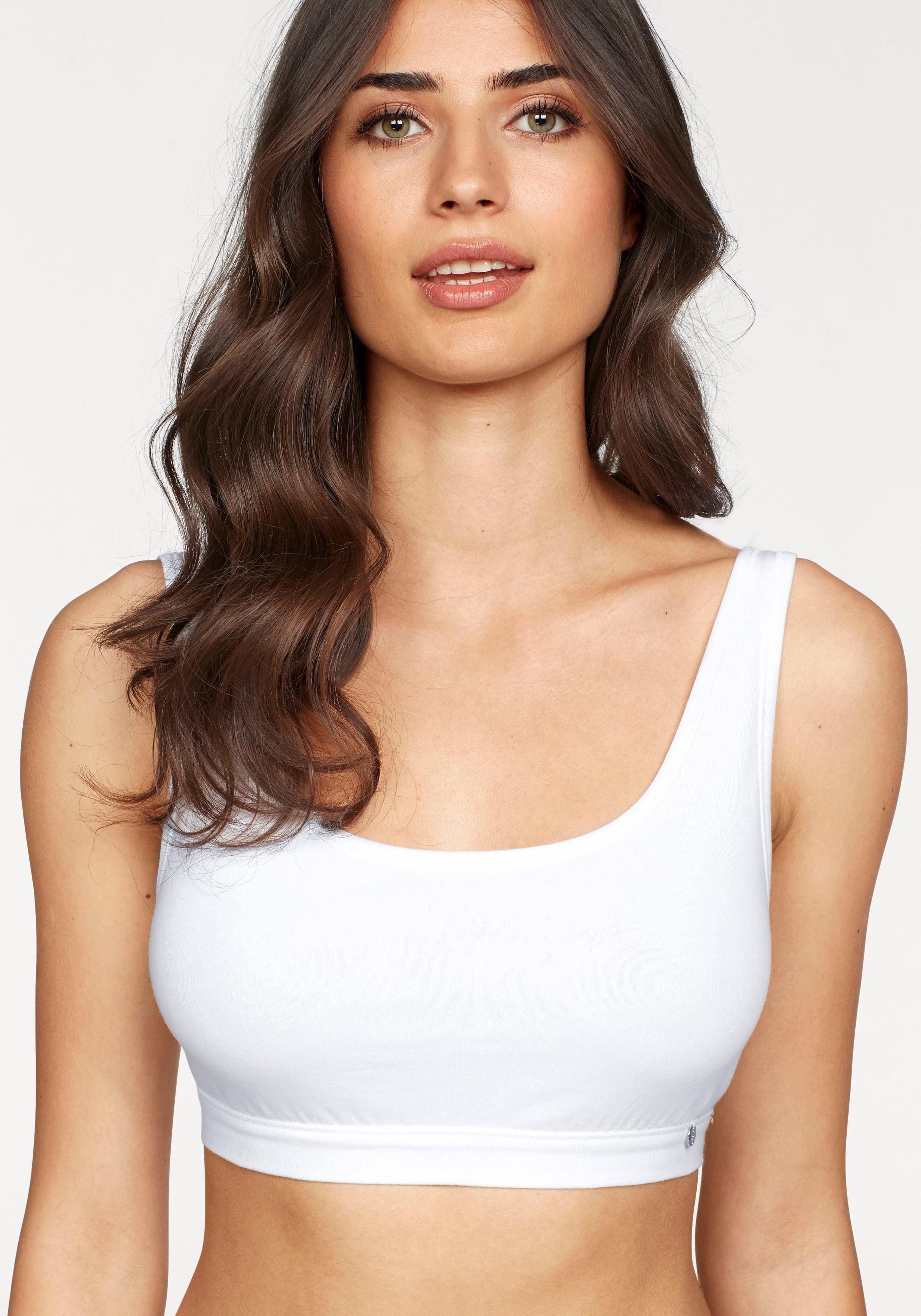 Schiesser Damen Bustier  Pima Baumwolle 36 38 40 42 44 weiß oder schwarz  NEU