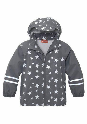 Scout Regen- und Matschjacke in Sternenmuster, wasserdicht mit verschweißten Nähten