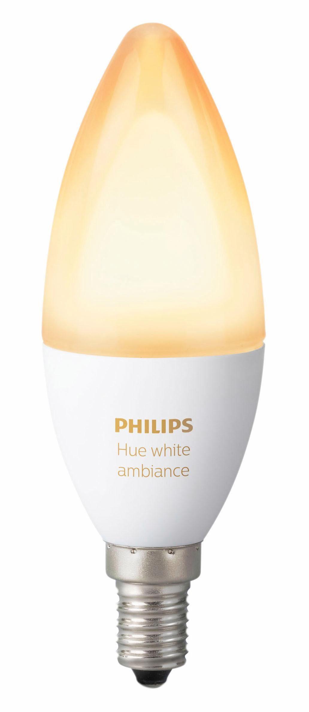 Philips Hue, White Ambiance E14 Einzellampe - smartes LED-Lichtsystem mit App-Steuerung