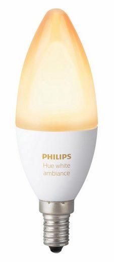 Philips Hue »WHITE AMBIENTE« LED-Leuchtmittel, E14, 1 Stück, Neutralweiß, Tageslichtweiß, Warmweiß, Extra-Warmweiß, Farbwechsler, smartes LED-Lichtsystem mit App-Steuerung