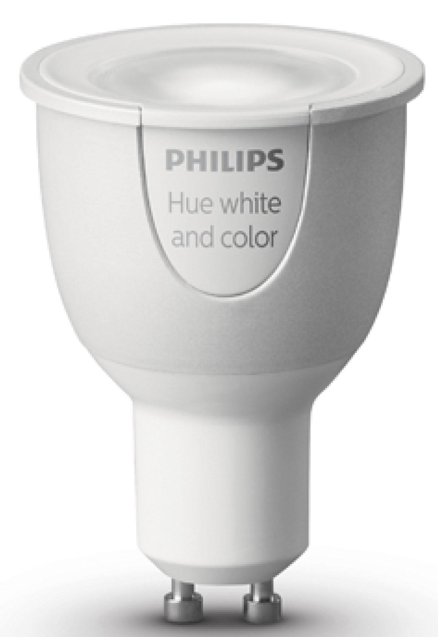 White & Color Ambiance, GU10 Erweiterung - weiß und farbig - smartes LED-Lichtsystem mit App-Steuerung
