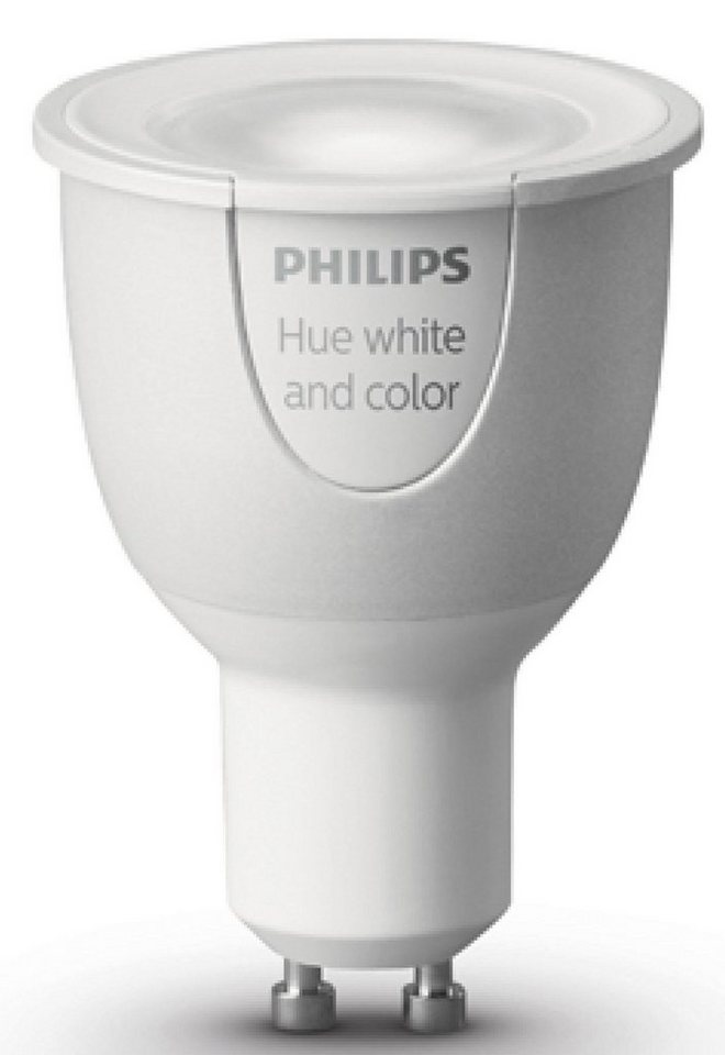philips hue white color ambiance gu10 erweiterung wei und farbig smartes led. Black Bedroom Furniture Sets. Home Design Ideas
