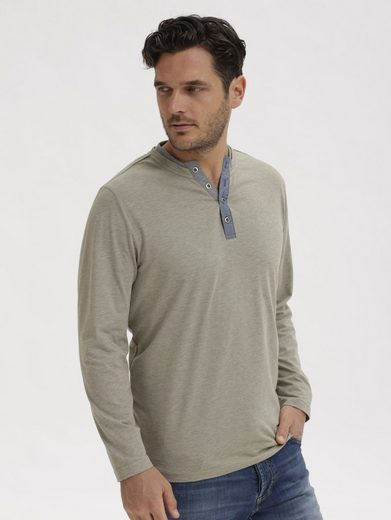 Babista Langarmshirt in Melange-Optik
