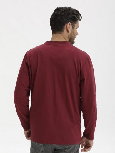 T-shirt Manches Longues Babista Avec Col Henley