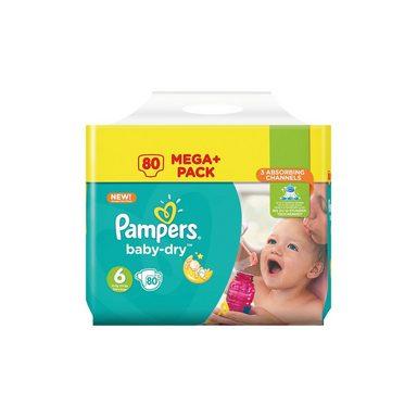 Pampers 1x80 Stück Baby Dry Gr.6 Junior 15+kg Mega Plus Pack