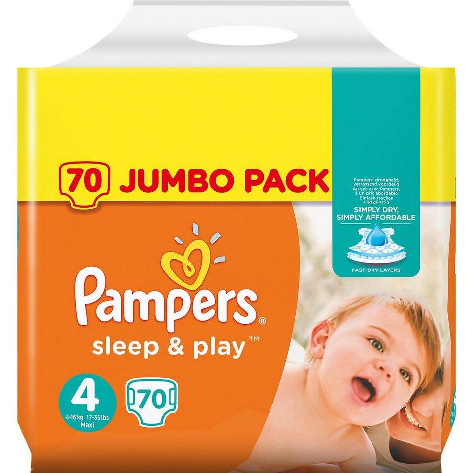 pampers 1x70 st ck sleep play gr 4 maxi 8 16kg jumbo pack. Black Bedroom Furniture Sets. Home Design Ideas