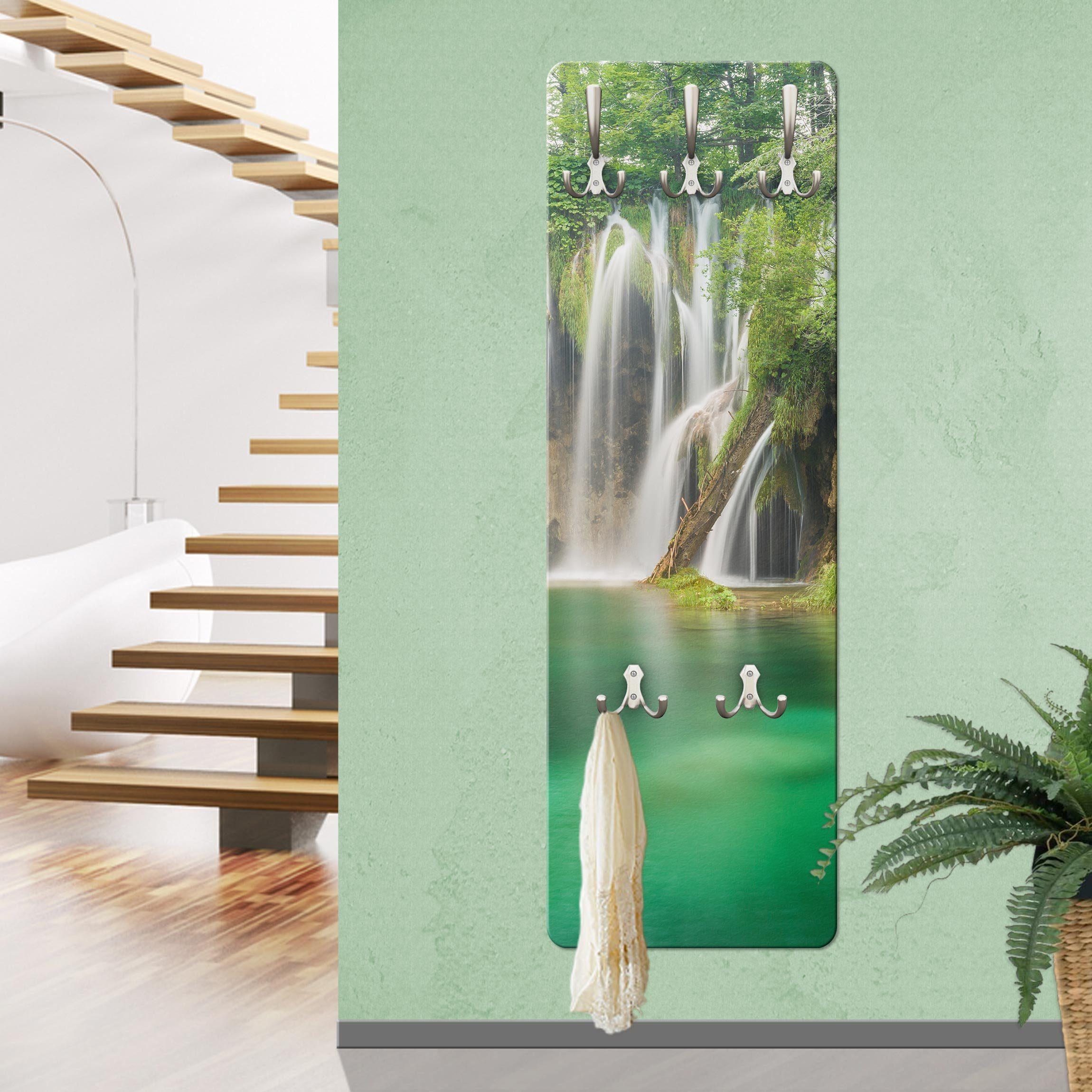 Bilderwelten Wandgarderobe »Wasserfall Plitvicer Seen«