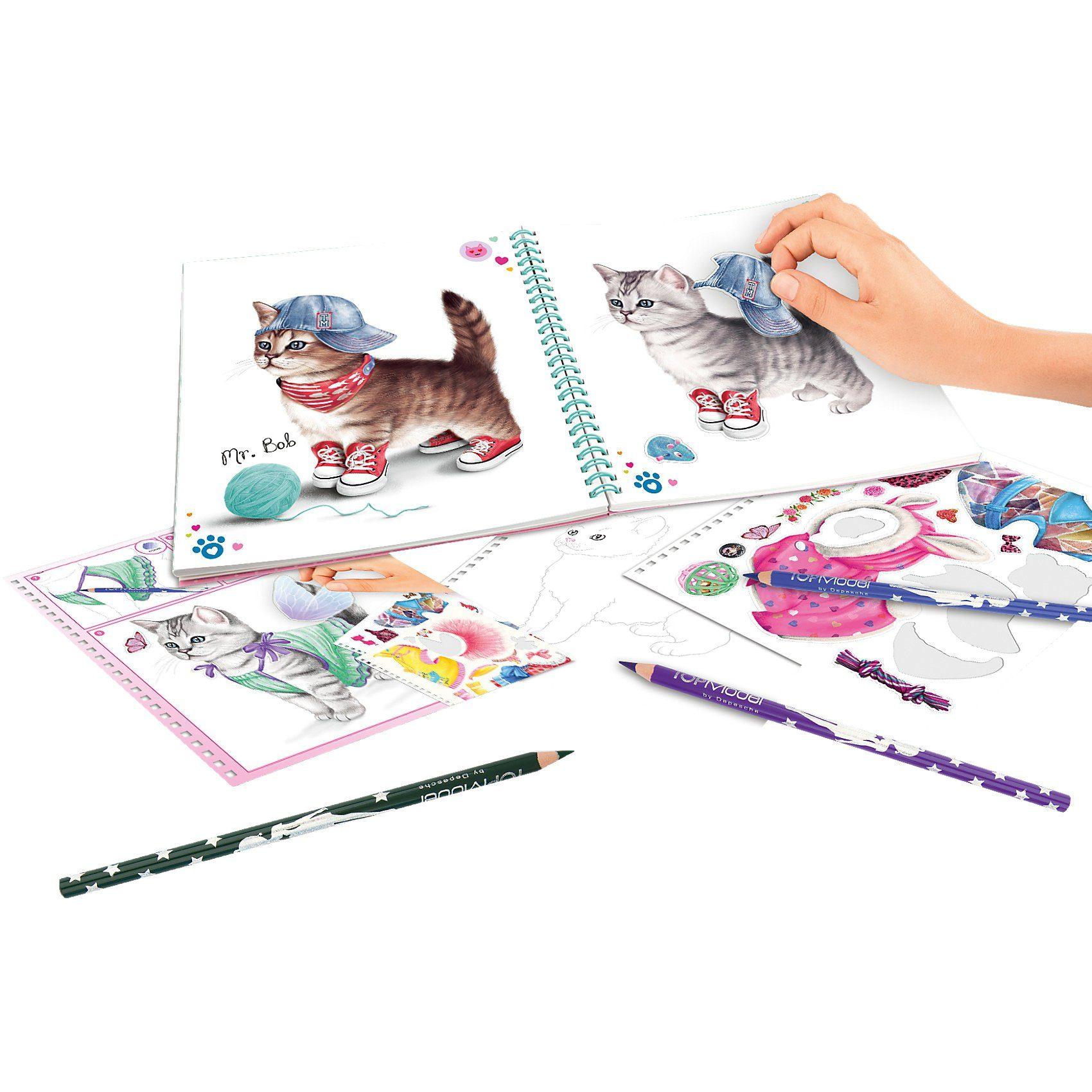 Depesche Create your TOPModel Kitty Malbuch