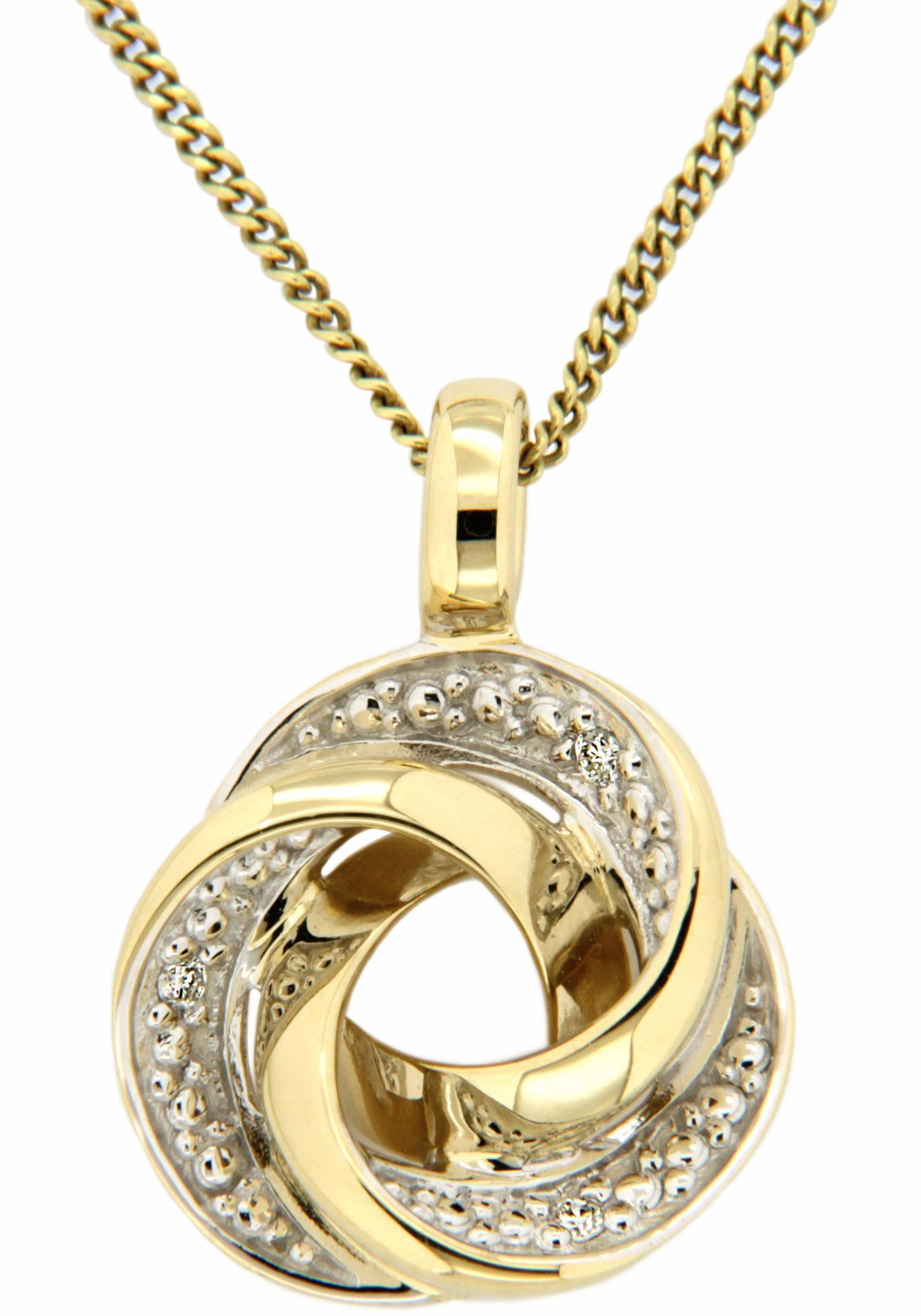Vivance jewels Kettenanhänger »Knoten« mit Brillanten