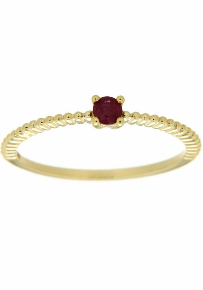 Vivance jewels Goldring mit Rubin | Schmuck > Ringe > Goldringe | Rot | Vivance jewels