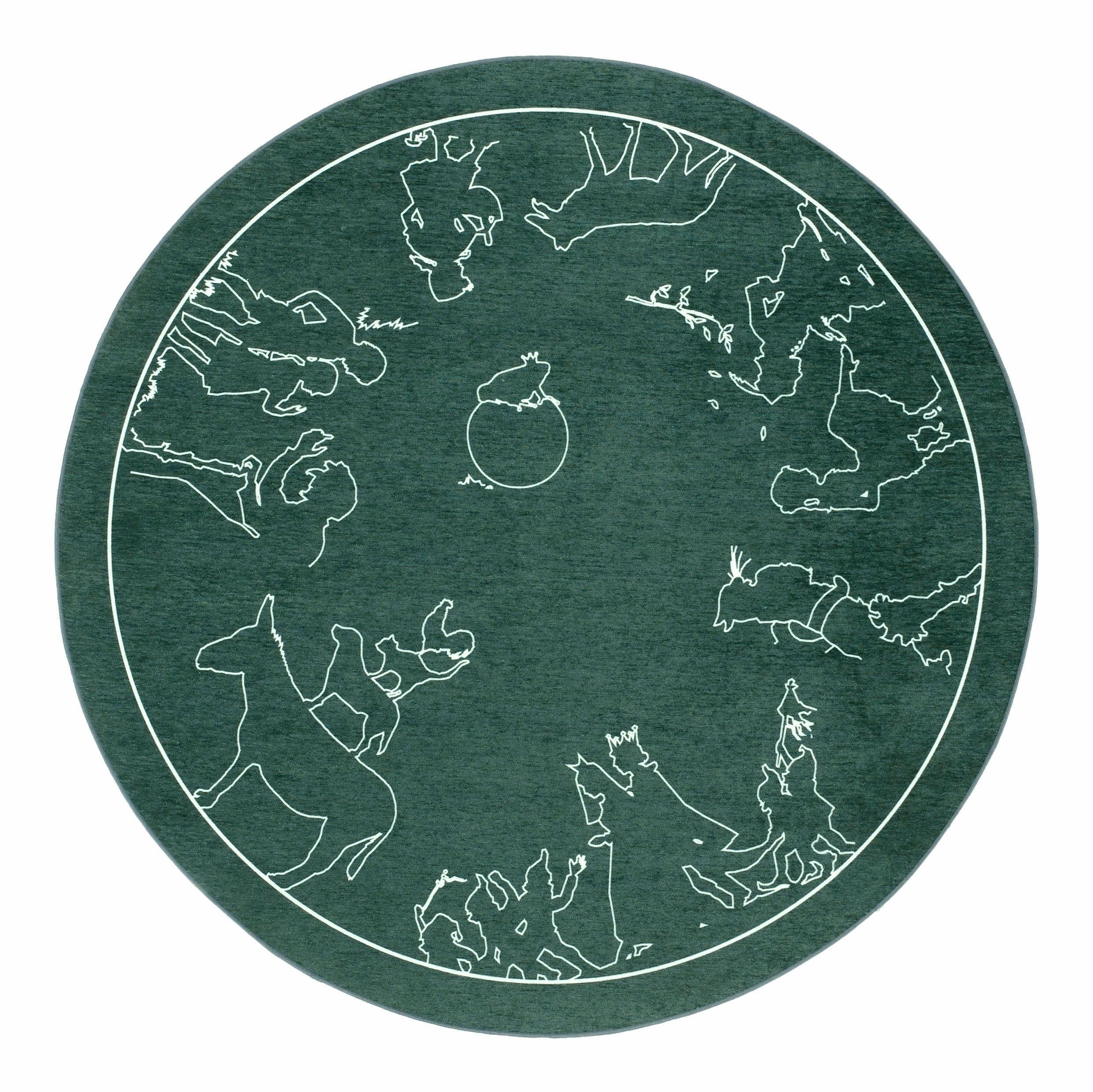 Kinderteppich »Märchen 7«, grimmliis, rund, Höhe 2 mm