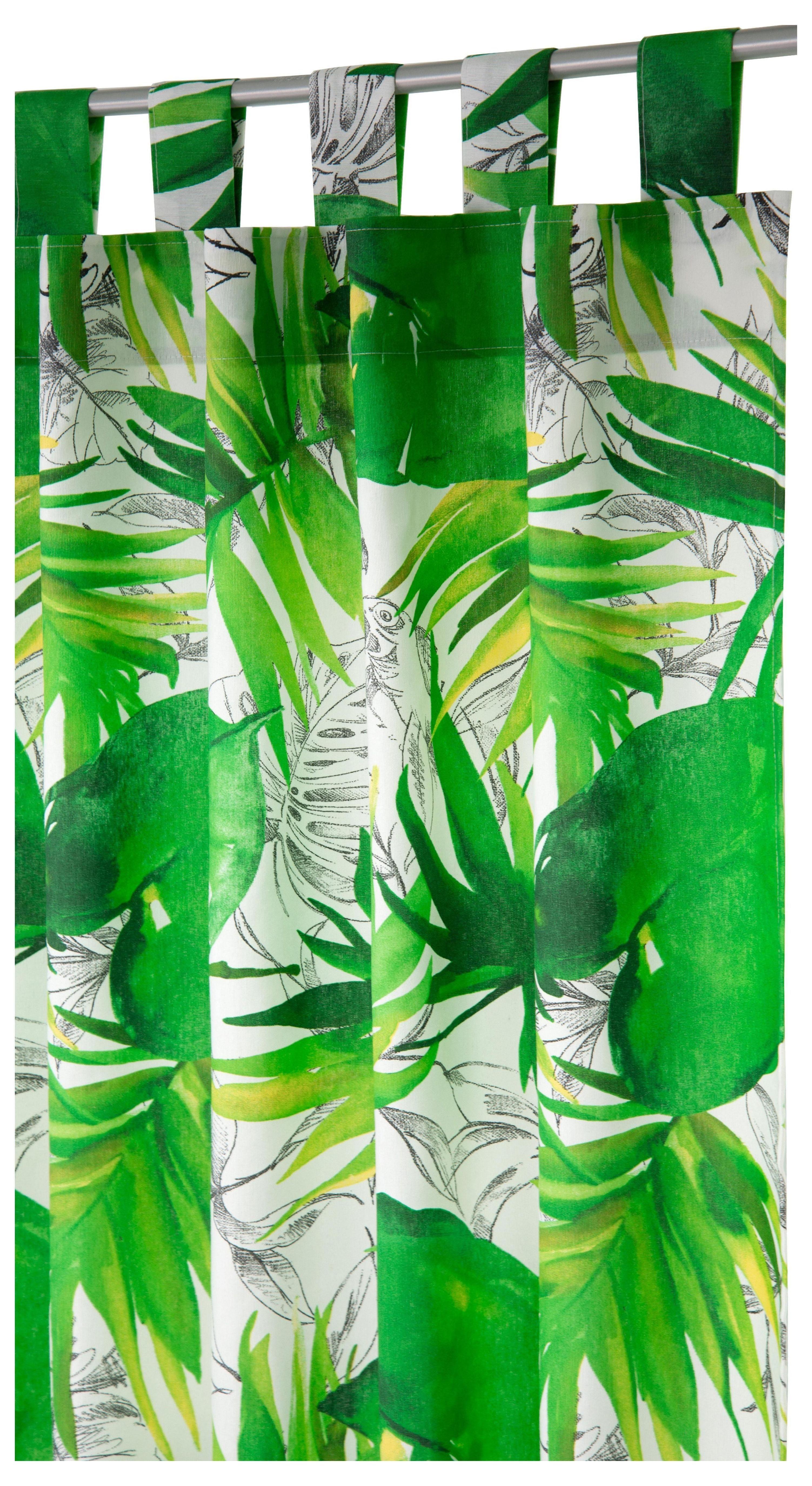 Vorhang »Jungle«, Tom Tailor, Schlaufen (1 Stück)