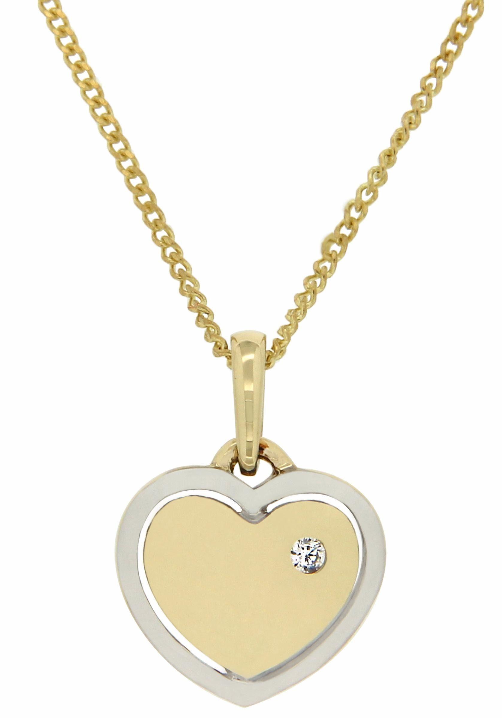 Vivance jewels Kettenanhänger »Herz«, mit Brillant