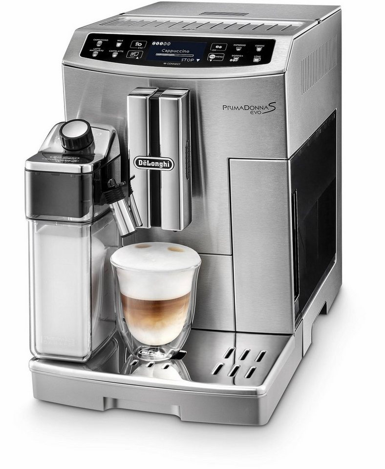 delonghi kaffeevollautomat prima donna s evo ecam 1 8l tank kegelmahlwerk app. Black Bedroom Furniture Sets. Home Design Ideas