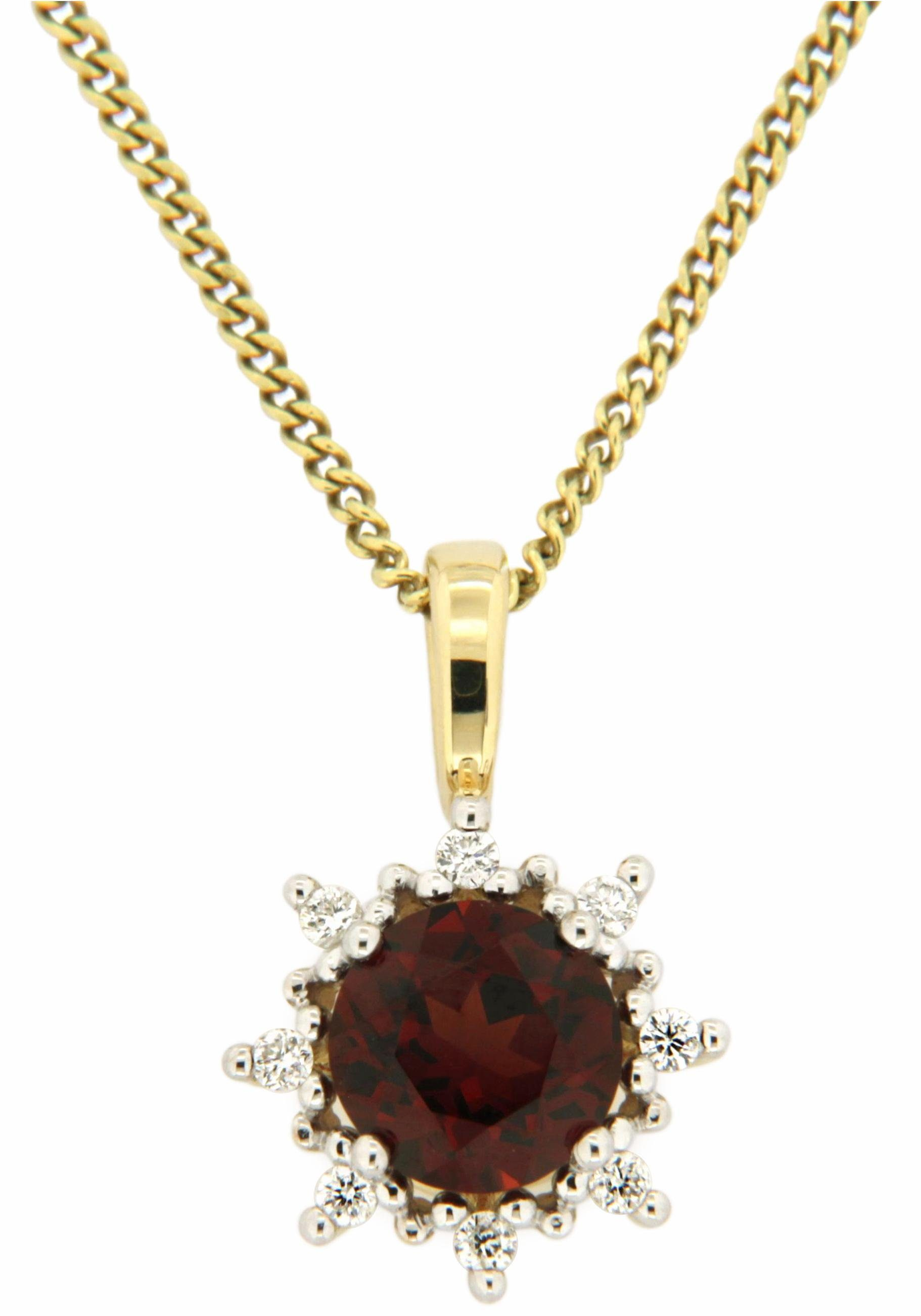 Vivance jewels Kettenanhänger, mit Granat und Brillanten
