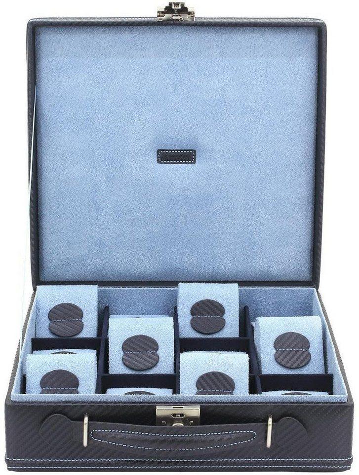 Friedrich23 Uhrenkasten »Carbon, 32054-5« | Uhren > Uhrenboxen | Blau | Friedrich23