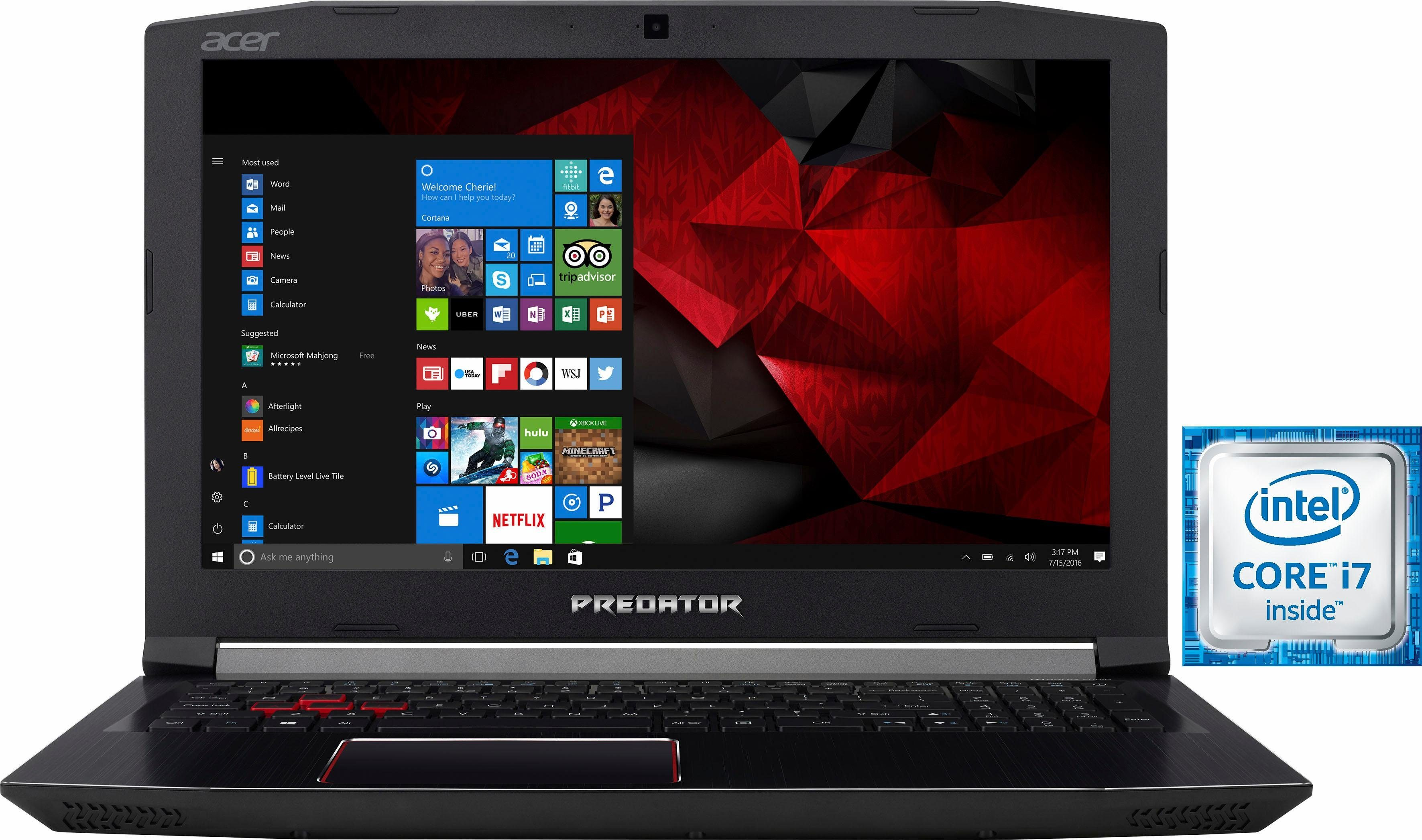 Acer Predator Helios 300 (PH317-51-78H7) Notebook, Intel® Core™ i7, 43,9 cm (17,3 Zoll)