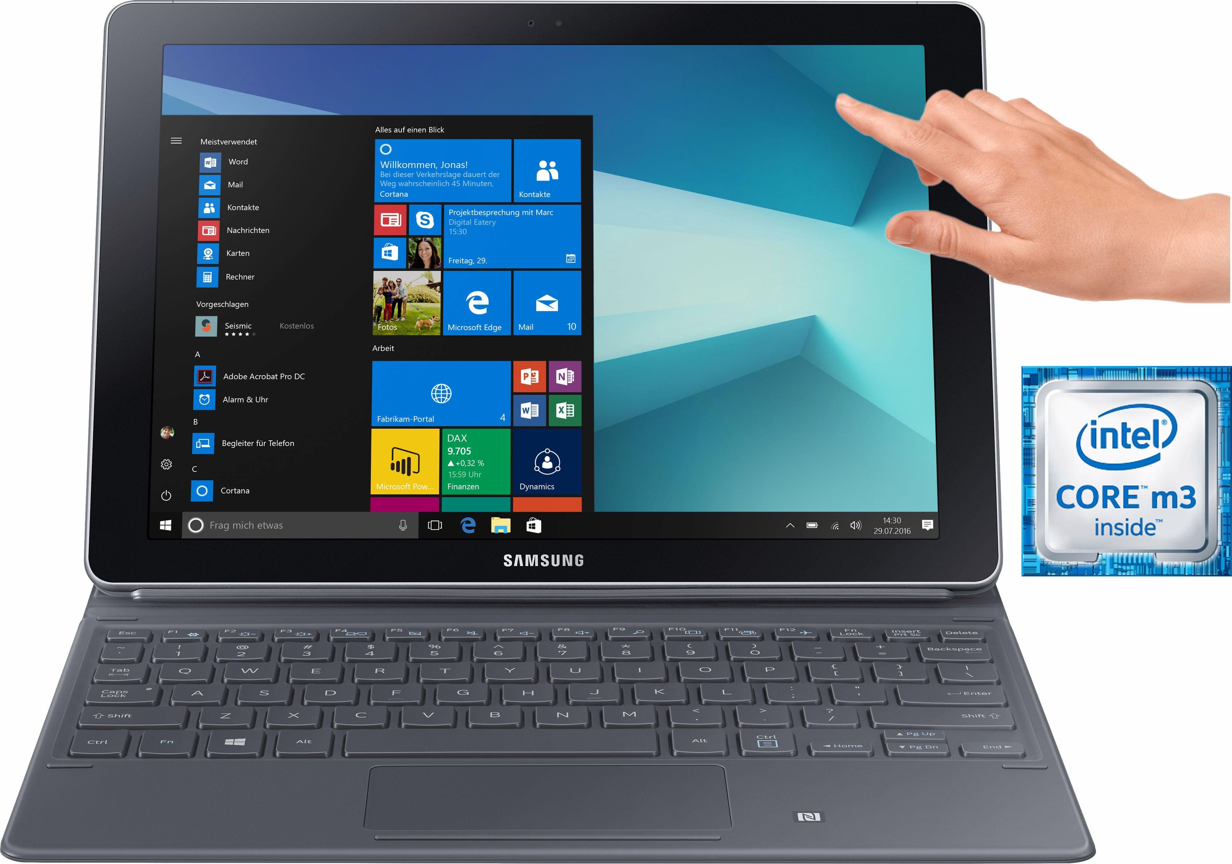 Samsung Galaxy Book 10.6 LTE Convertible Notebook (Intel Core m3, HD Graphics 615)