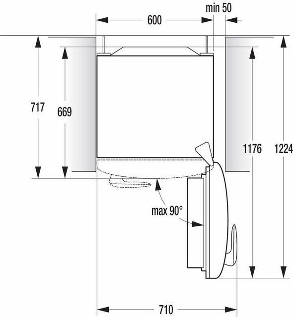 GORENJE Kühl- Gefrierkombination ONRK193BK, 194 cm hoch, 60 cm breit