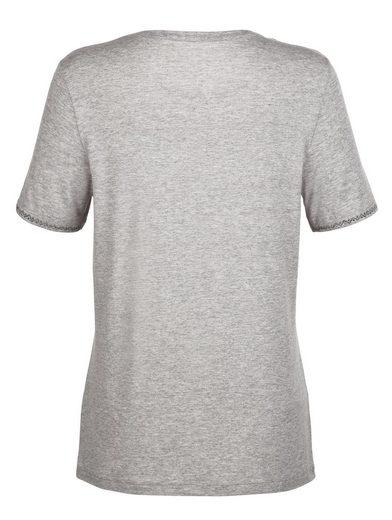 Paola Shirt mit schöner Steinchenzier
