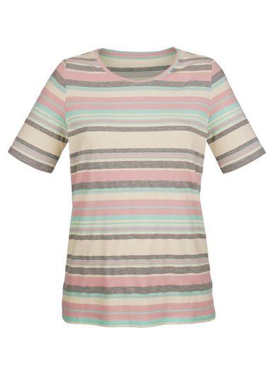 Paola Shirt mit sportiven Streifen