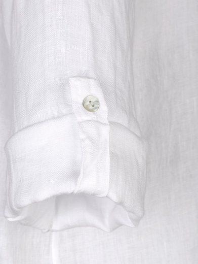 Alba Moda Leinenbluse mit Ärmeln zum Krempeln
