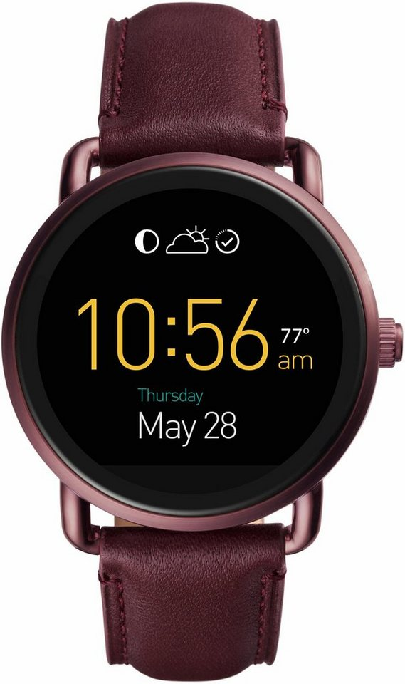 fossil q q wander ftw2113 smartwatch android wear mit individuell einstellbarem zifferblatt. Black Bedroom Furniture Sets. Home Design Ideas
