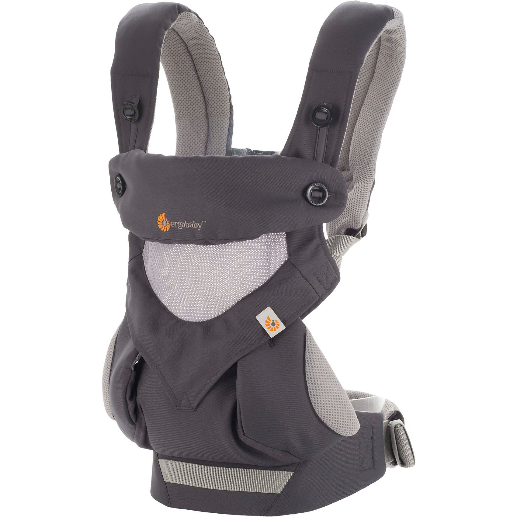 ERGObaby Babytrage 360° Cool Air, Carbon/Grey