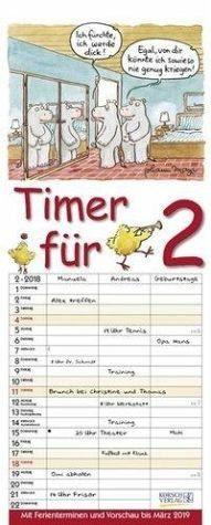 Kalender »Timer für 2 2018«