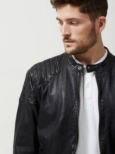 Selected Homme Detaillierte Lederjacke