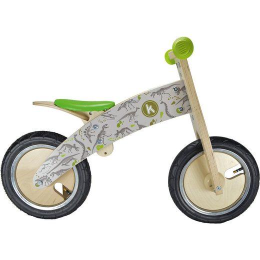 Kiddimoto Premium Holz Laufrad Dino, braun