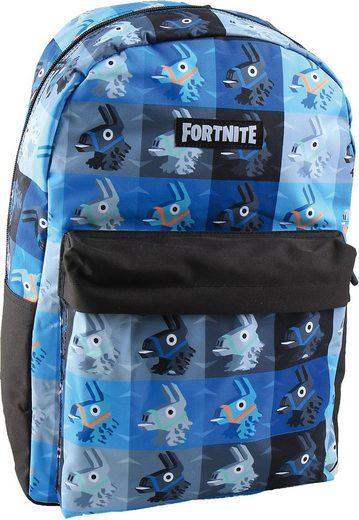 Fortnite Freizeitrucksack »Freizeitrucksack mit Vortasche Fortnite grau/blau«