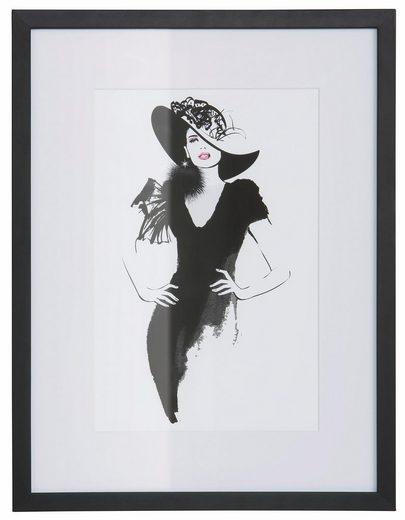 Leonique Bild »Skizze Hollywood 1«, 30/40 cm, gerahmt
