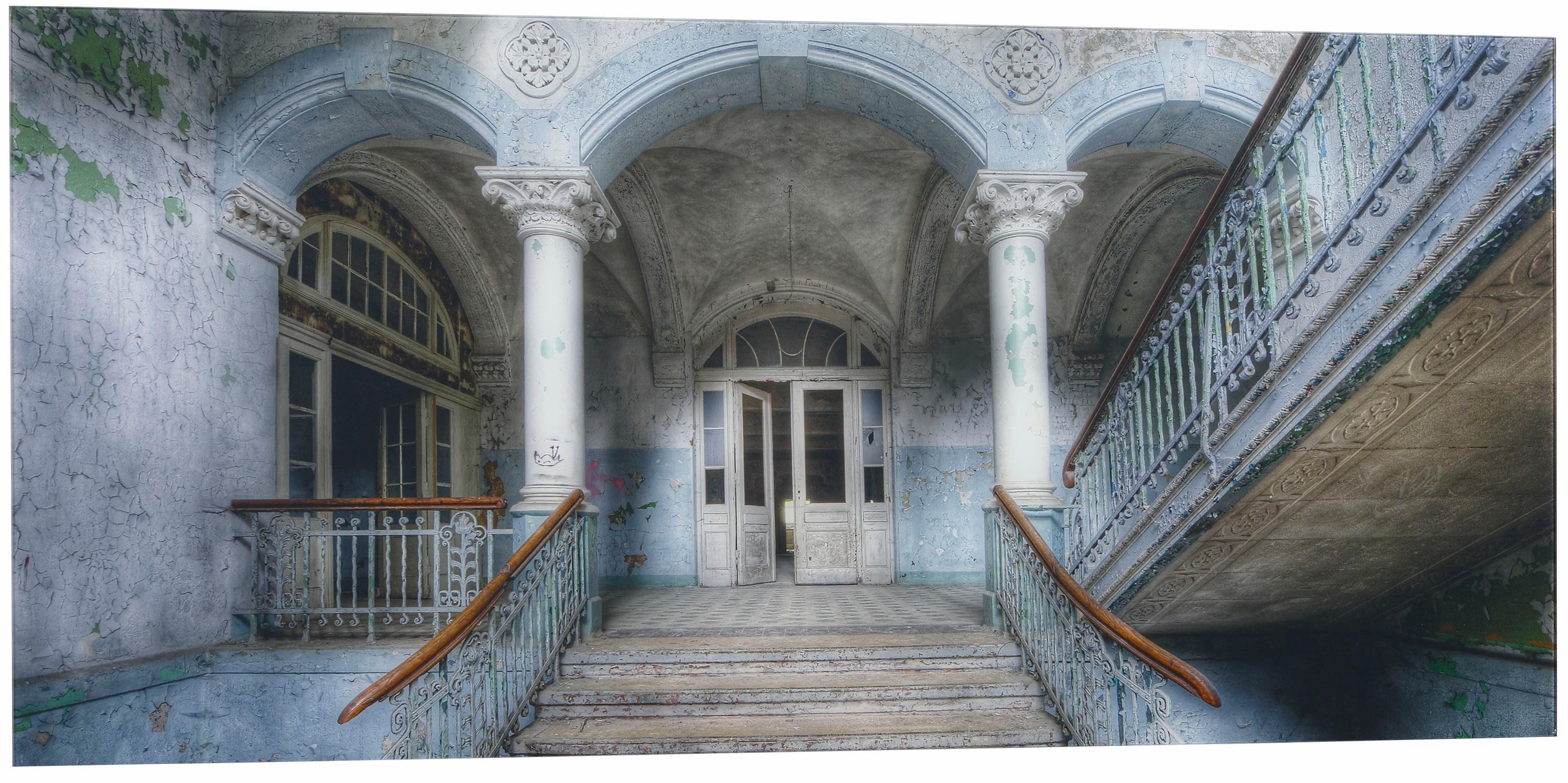EUROGRAPHICS Glasbild »Old Stairs In Beelitz«, 125/50 cm