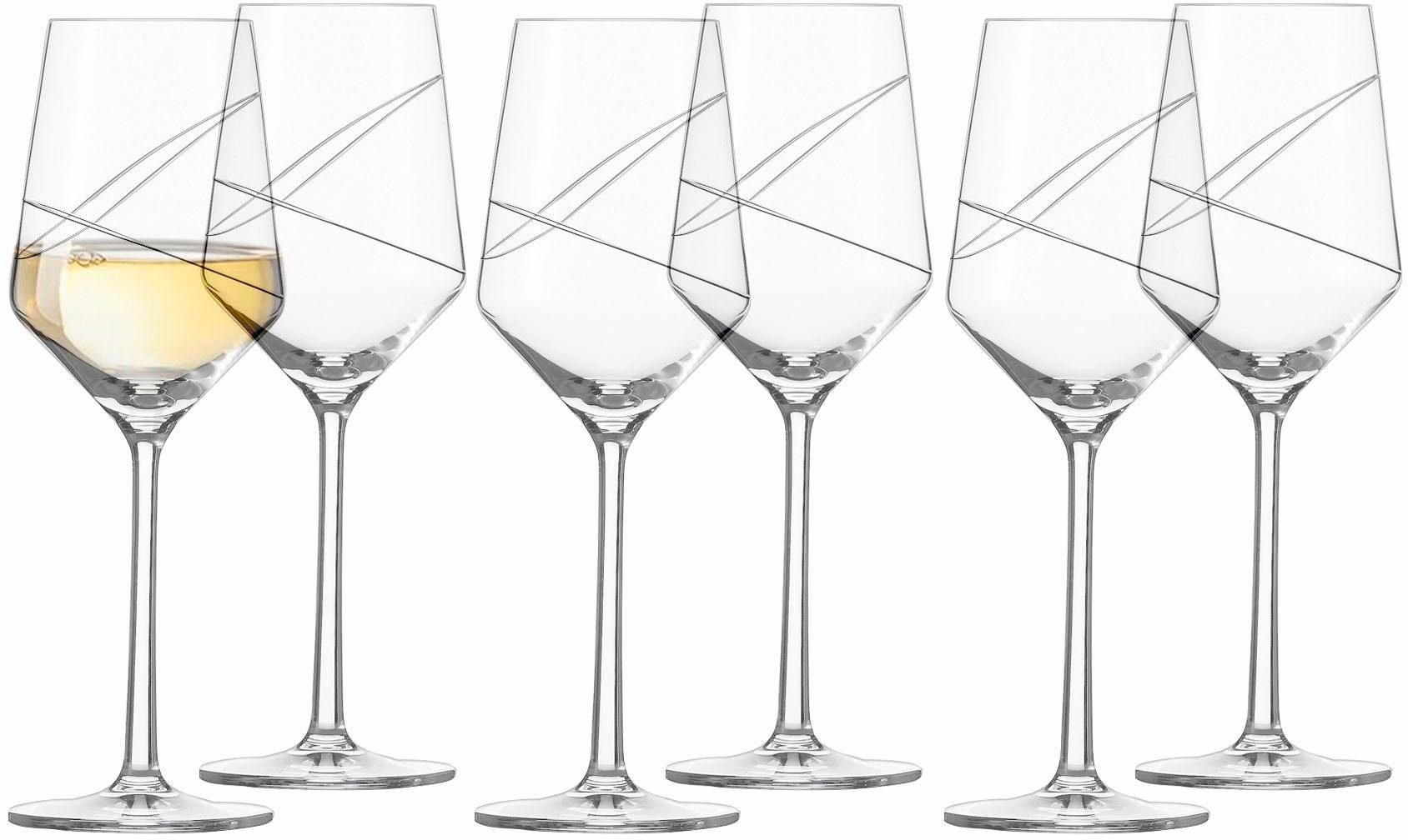 Alexander Herrmann Weißweingläser, Kristallglas, 6 Stück, 300 ml, Made in Germany, »GOURMET Linie«