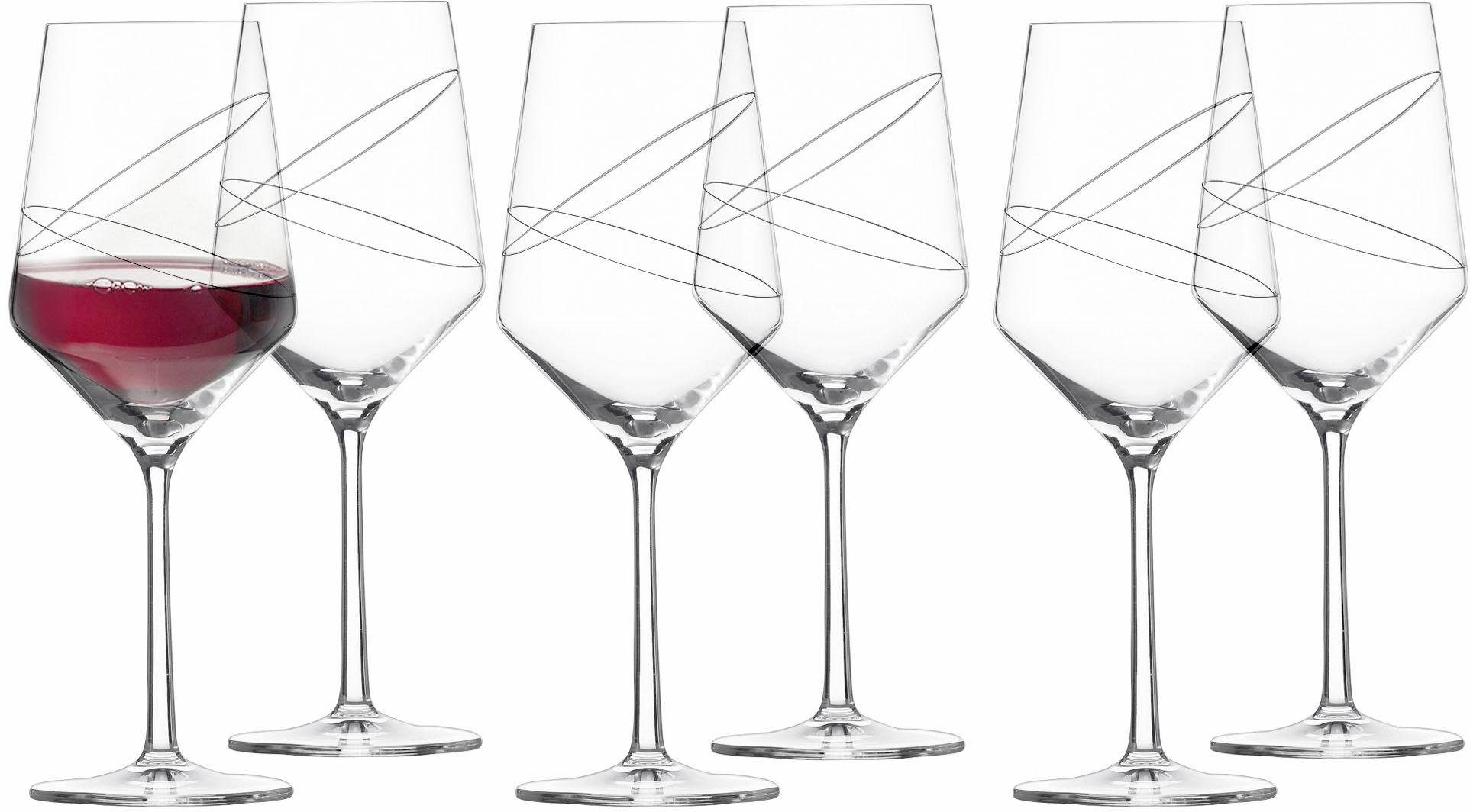 Alexander Herrmann Rotweingläser, Kristallglas, 6 Stück, 540 ml, Made in Germany, »GOURMET Linie«