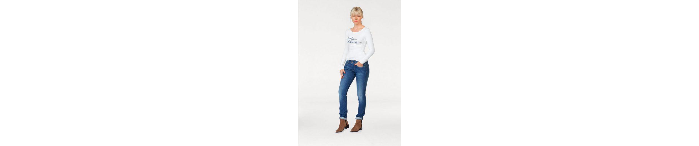 Langarmshirt Jeans Print RACHEL Pepe mit Pepe Jeans Logo wEfqt8zax