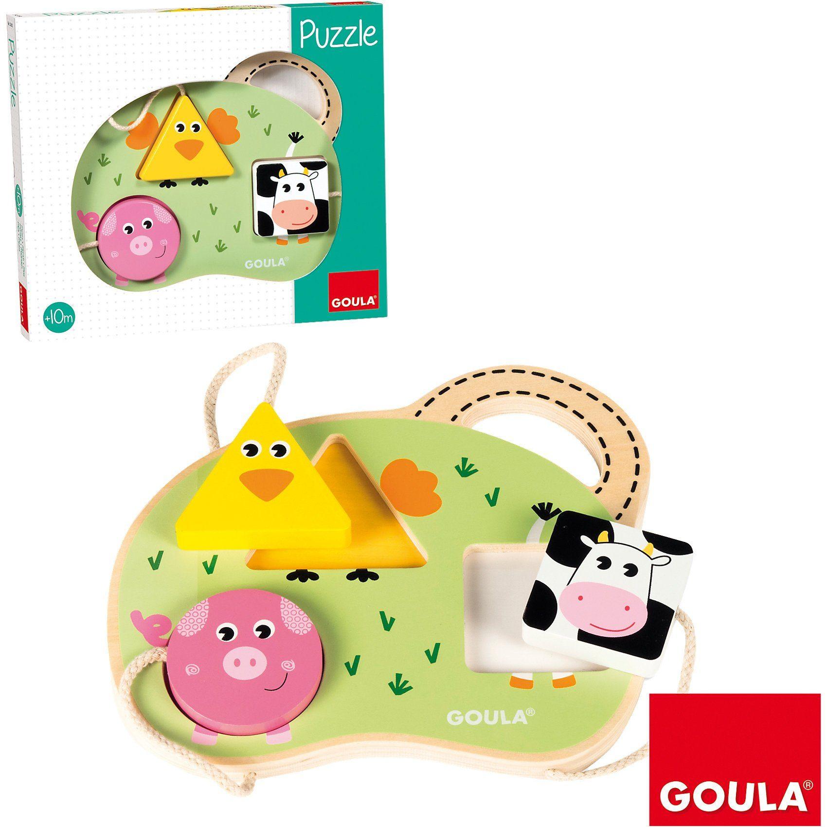 Goula Holzpuzzle 3 Bauernhoftiere