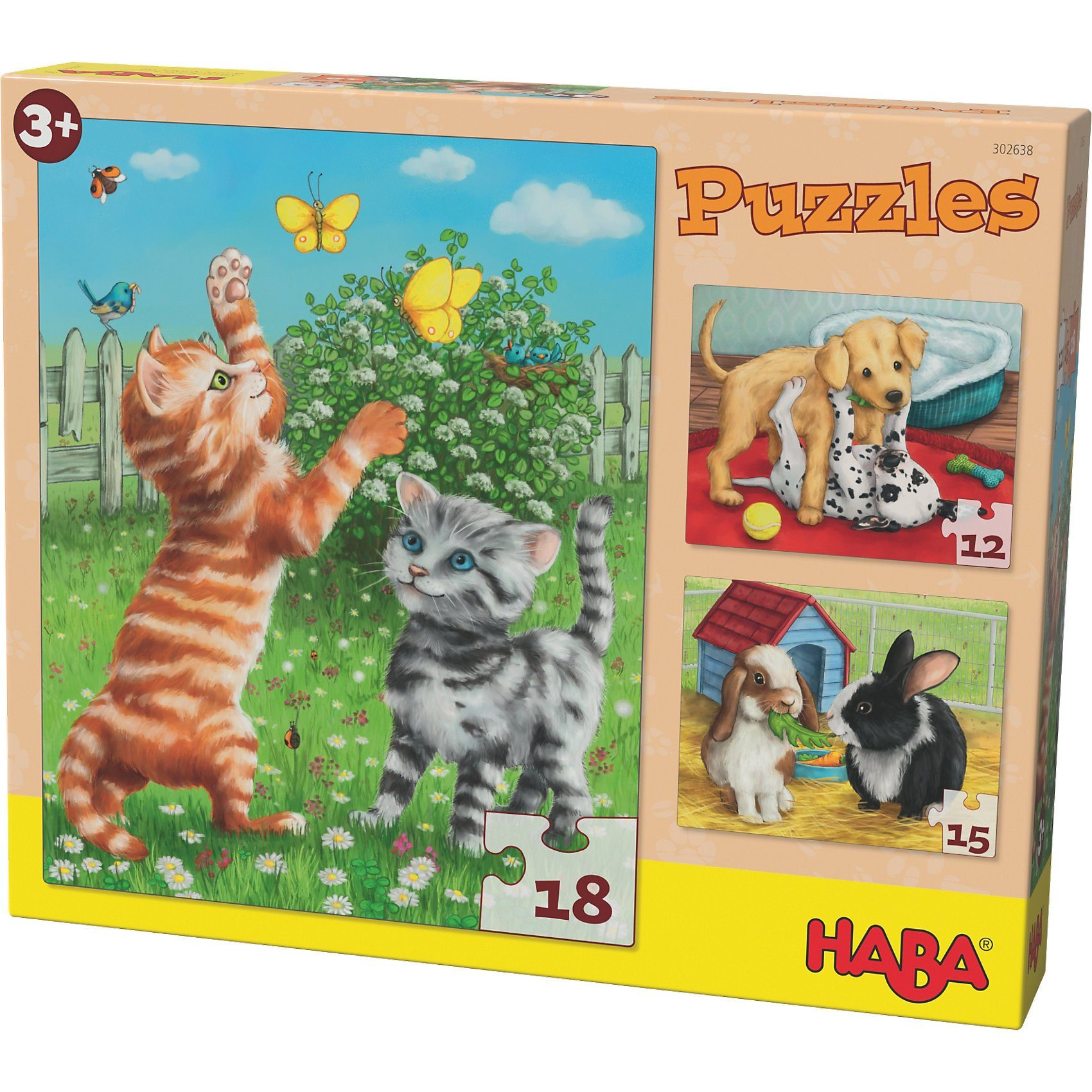 Haba Puzzles - 12/15/18 Teile - Haustiere