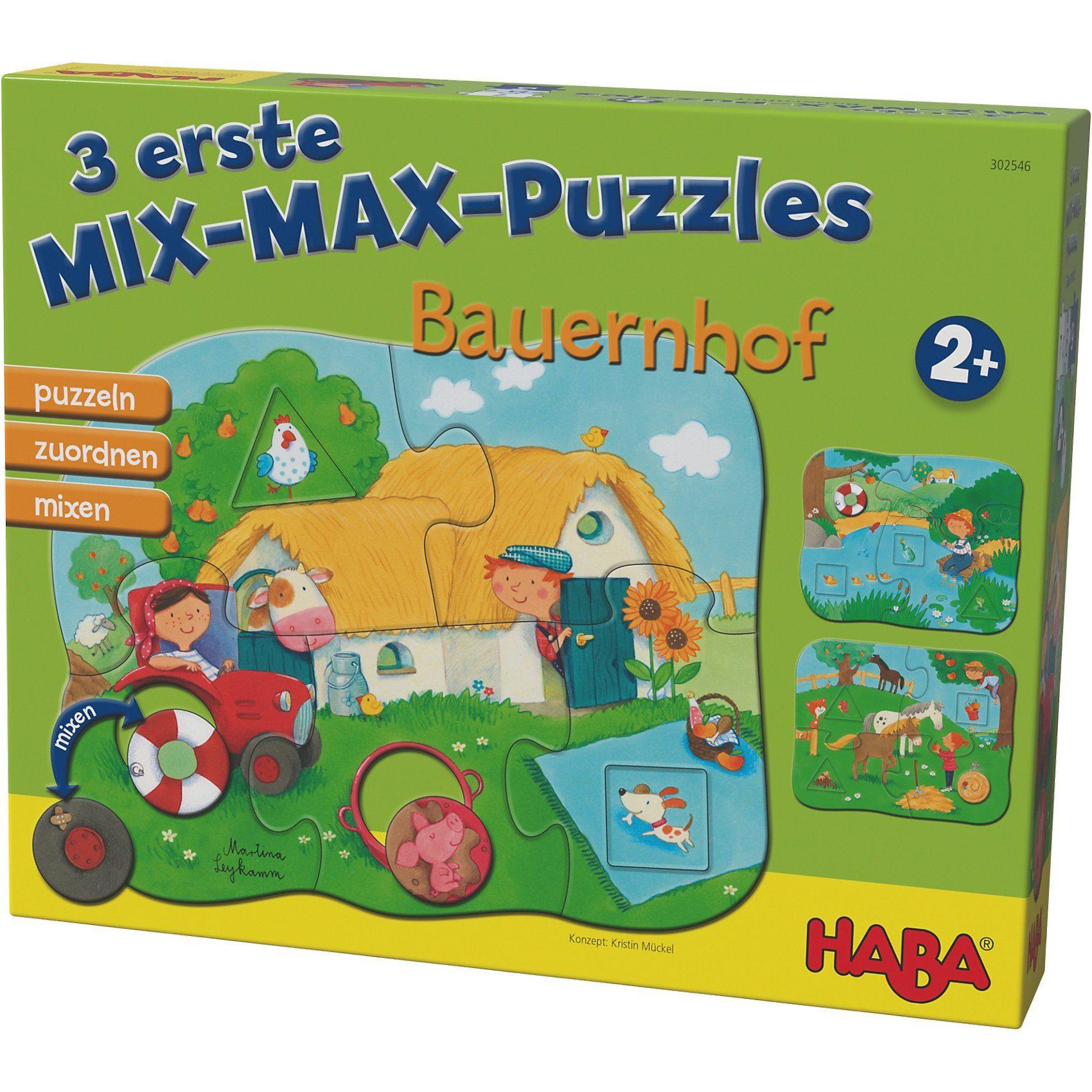 Haba 3 erste Mix-Max-Puzzles - Bauernhof