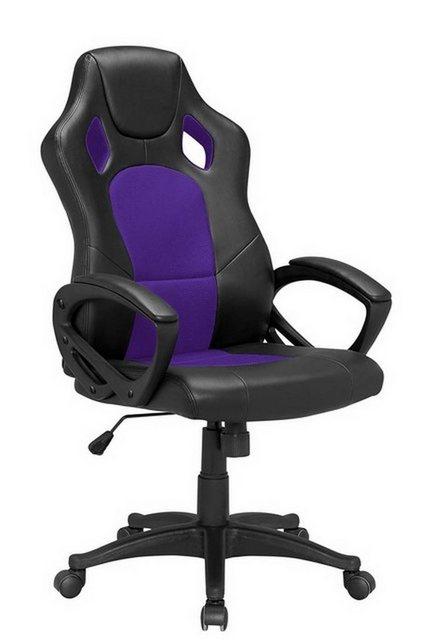 Bürostühle - HTI Line Chefsessel Racingstyle, Chefsessel Racingstuhl »Daytona« » lila  - Onlineshop OTTO