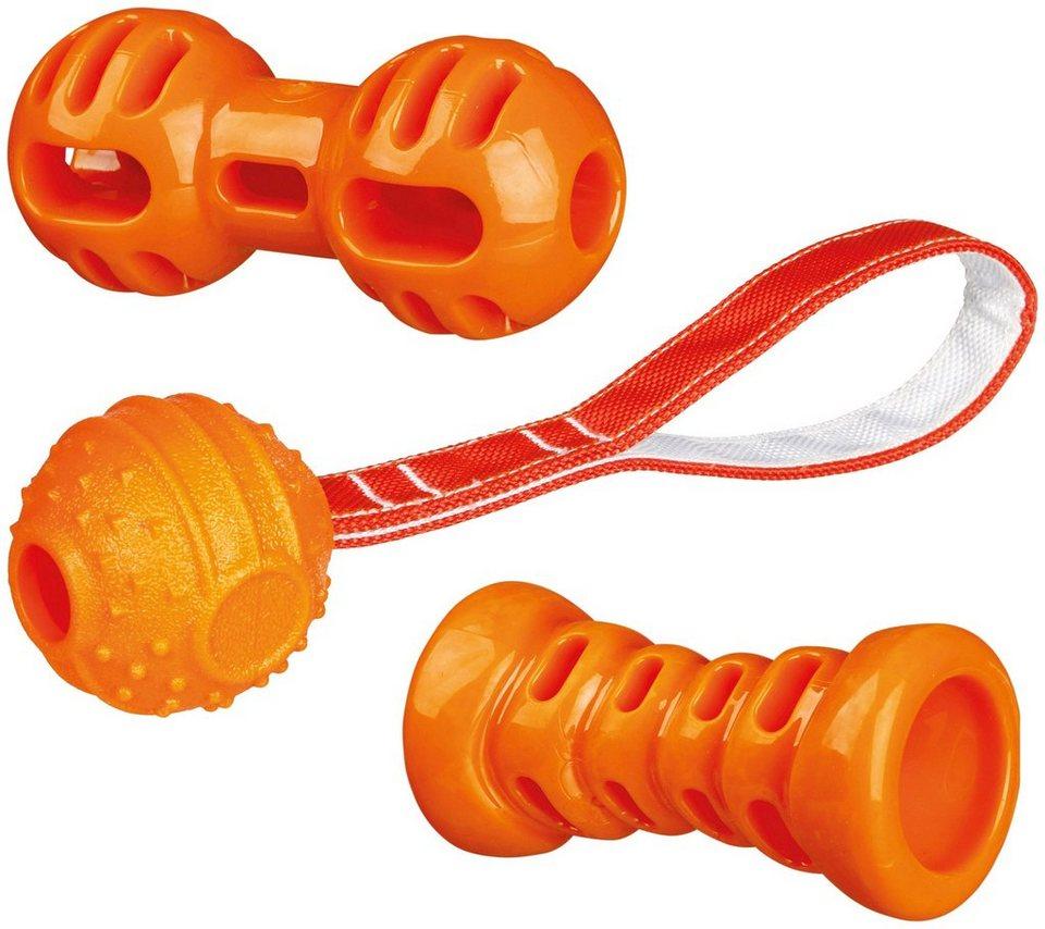 TRIXIE Hunde-Spielzeug-Set  Soft & Strong , 3-tlg.