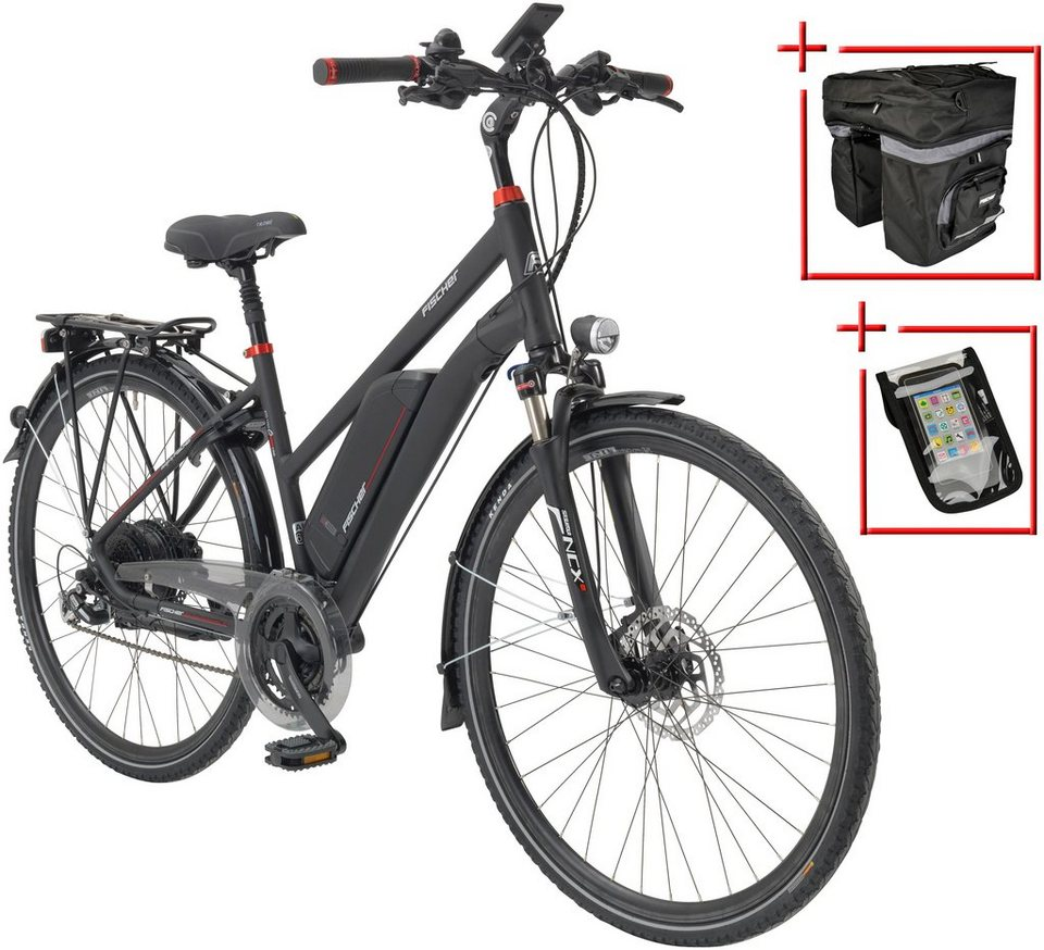 fischer fahrraeder e bike trekking damen etd 1722 28 zoll 24 gang heckmotor 557 wh online. Black Bedroom Furniture Sets. Home Design Ideas