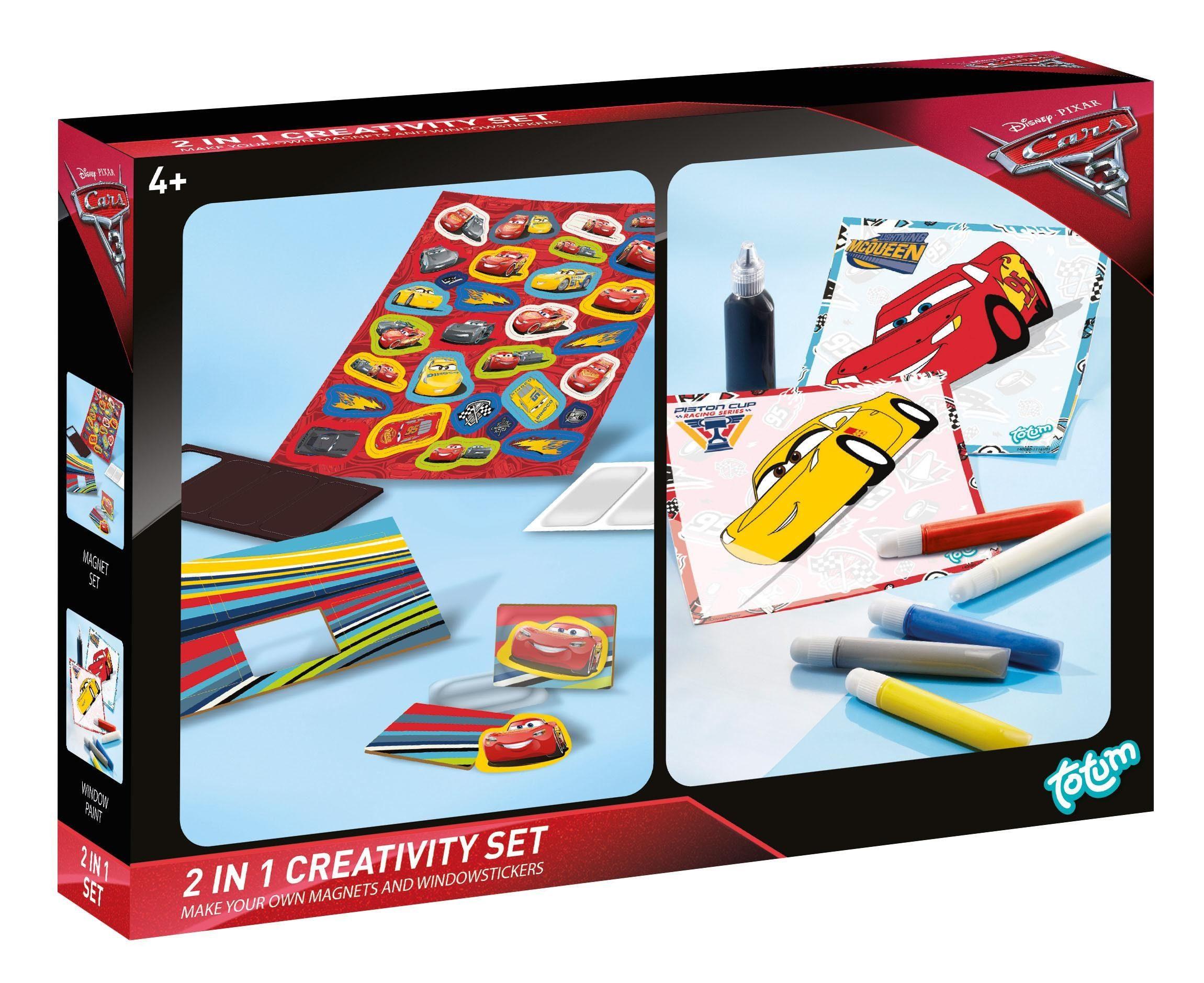 totum Kreativset Magnete und Fensterbilder, »Disney Pixar Cars 3, 2 in 1 Creativity Set«
