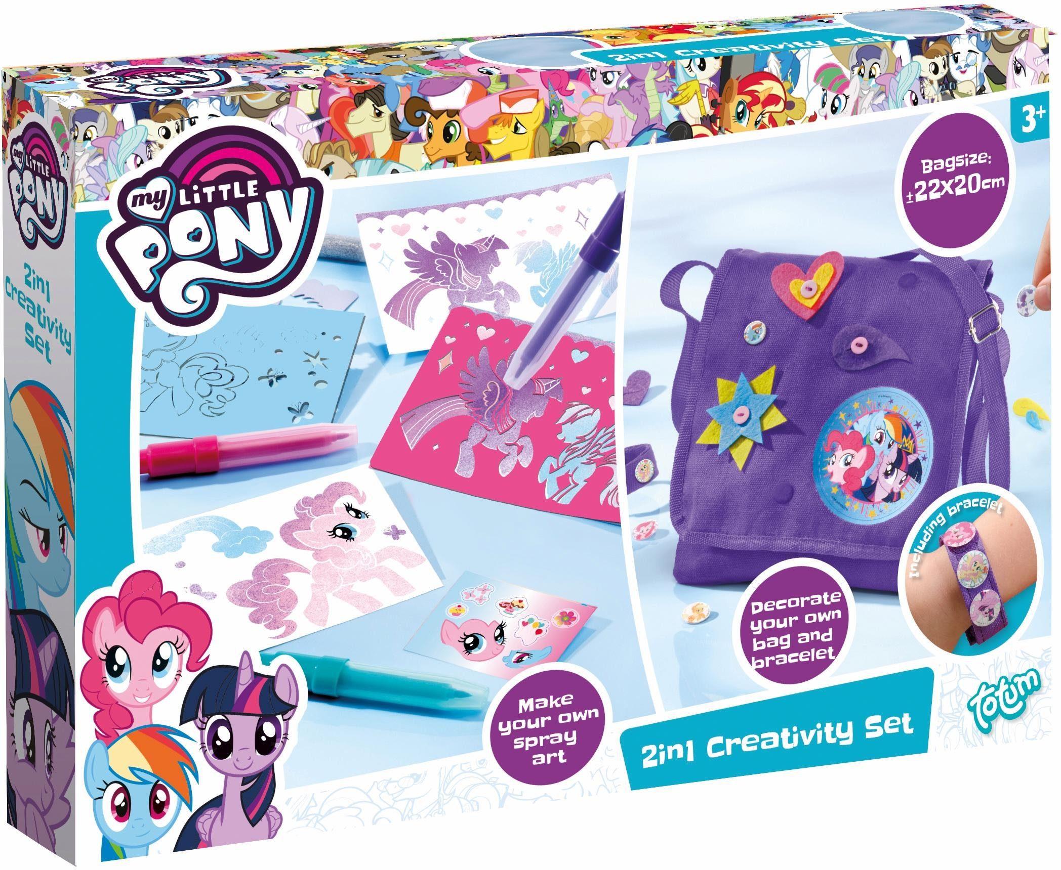 totum Kreativset Tasche, Armband und Sprühstifte, »My Little Pony, 2 in 1 Creativity Set«
