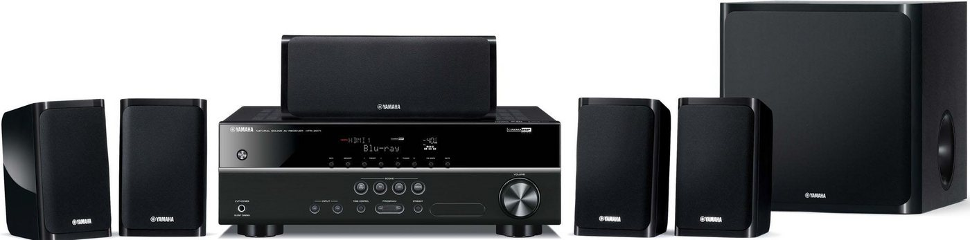 Yamaha Yamaha YHT-1840 5.1 Heimkinosystem (Hi-Res) 5.1 Heimkinosystem (3D-fähig, Hi-Res Audio)