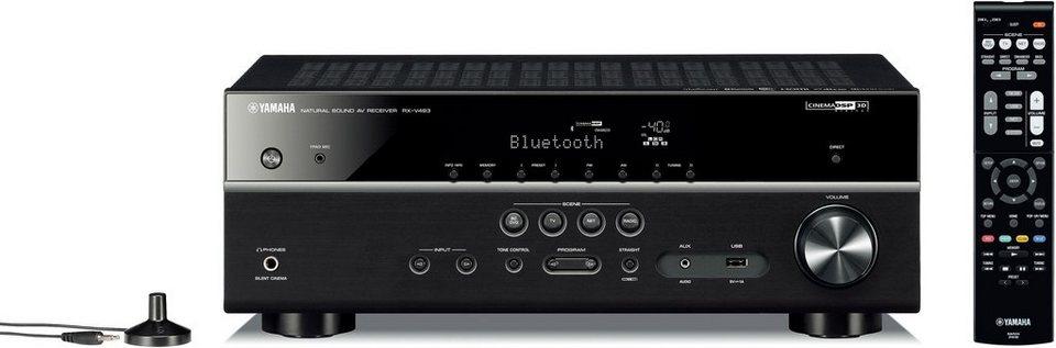 yamaha rx v483 5 1 av receiver hi res deezer spotify airplay wlan bluetooth online kaufen. Black Bedroom Furniture Sets. Home Design Ideas