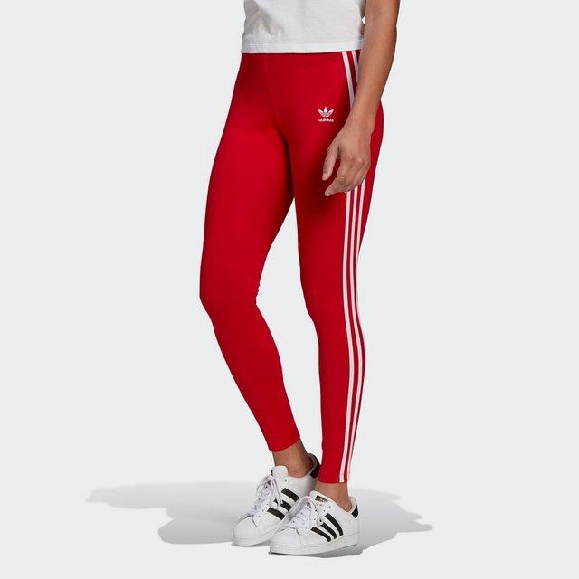 Hosen - adidas Originals Leggings »ADICOLOR CLASSICS 3 STREIFEN« › rot  - Onlineshop OTTO